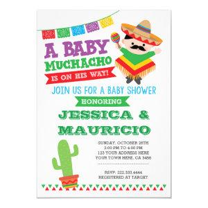 Fiesta Boy Baby Shower Invitation