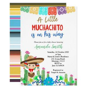 Fiesta Boy Baby Shower Invitation Boy