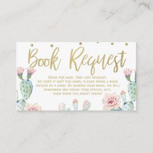 Fiesta Gold Calligraphy Book request Card Insert