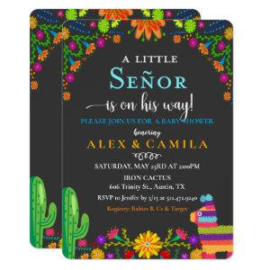 Fiesta Little Senor Boy Baby Shower Invitation