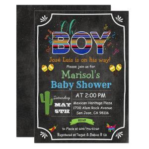 Fiesta Mexican Oh Boy Baby Shower Invitation