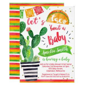 Fiesta Taco Baby Shower Invitation