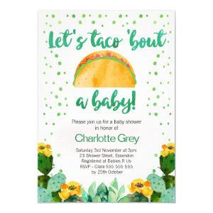 Fiesta Taco 'Bout A Baby Baby Shower Invitation