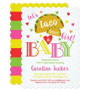 Fiesta Taco Bout a Baby Girl Shower Invitation