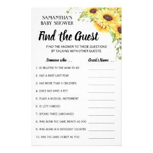 Find the guest baby shower bilingual game card