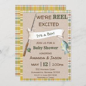 Fishing Invitation Boy Baby Shower Invitation
