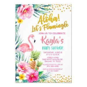 Flamingo Baby Shower Invitation
