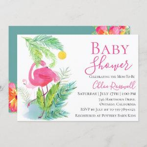 Flamingo Floral Baby Shower