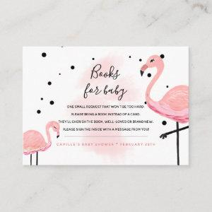 Flamingo Mom Bring a Book Request Books For Baby Enclosure Card