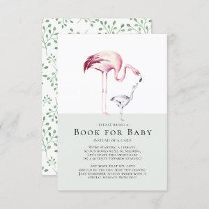Flamingo Neutral Baby Shower Book for Baby Card