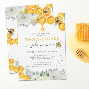 Floral Honeycomb Bumble Bee Baby Shower