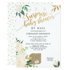 Floral Surprise Baby Shower by mail Invitation
