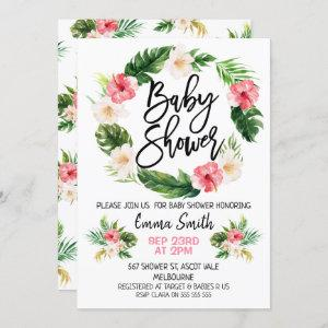 Floral Tropical Wreath Baby Shower