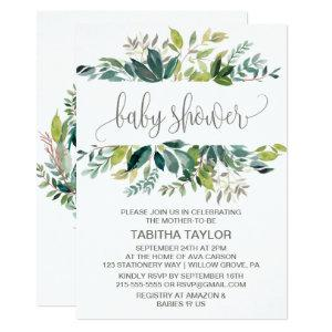 Foliage Baby Shower Invitation