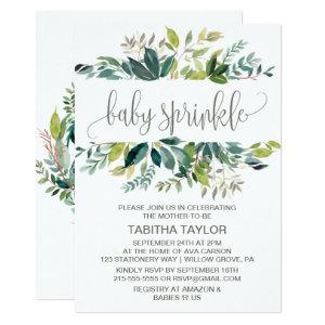 Foliage Baby Sprinkle Invitation