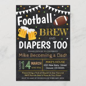 Football And Beer Baby Shower