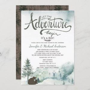 Forest Adventure Boy Bear Deer Baby Shower By Mail
