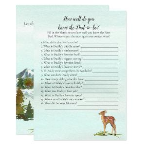 Forest Adventure Who Knows Daddy Best Deers Game Invitation