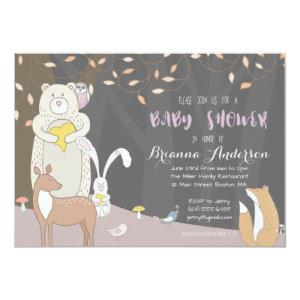 Forest Animals – Woodland Baby Shower Invitation