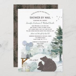 Forest Boy Country Bear Deer Mail Baby Shower