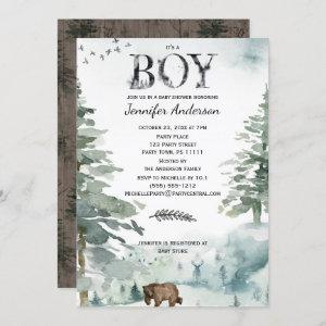 Forest Mountain Boy Country Bear Deer Baby Shower