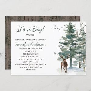 Forest Woodland Country Deer Boy Baby Shower