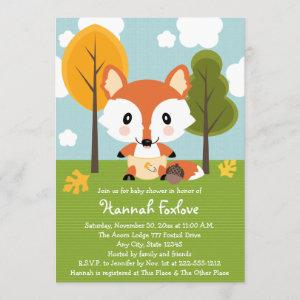 FOX IN DIAPERS BABY SHOWER INVITATION
