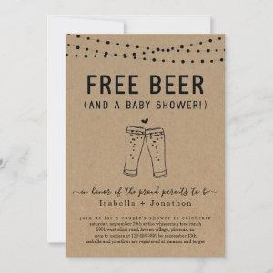Free Beer and a Baby Shower Couples Gender Neutral