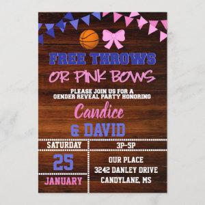 Free Throws or Pink Bows Gender Reveal