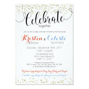 Friends Joint Baby Shower Invitation Book Card