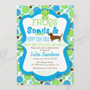 Frogs, Snails, & Puppy Dog Tails - Boy Baby Shower