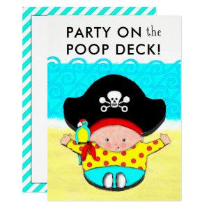 Funny Pirate Baby Shower Invitations