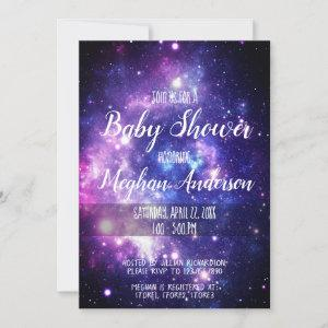 Galaxy Stars Celestial Outer Space Baby Shower Invitation