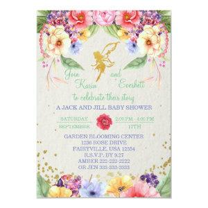Garden Golden Fairy Baby Shower Invitation