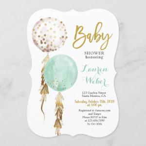 Gender Neutral Balloons Baby Shower Invitation