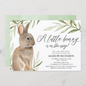 Gender neutral easter bunny greenery baby shower