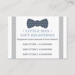 Gift Registry Card, Little Man, Bow Tie Enclosure Card