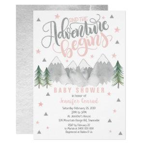 Girl Adventure Baby Shower Invitation