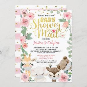 Girl Baby Shower By Mail Pandemic Woodland Animal