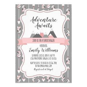 Girl Baby Shower Invitation Adventure Awaits