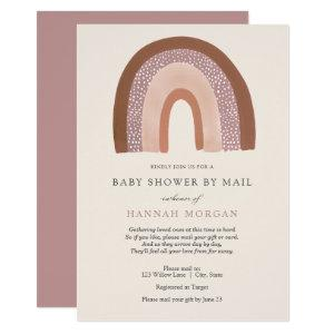 Girl Rainbow Baby Shower by Mail invitation