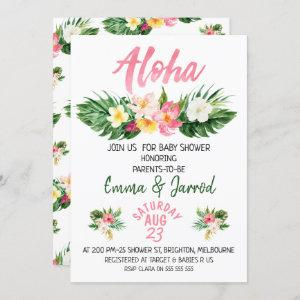 Girls Tropical Floral Baby Shower