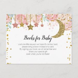 Gold twinkle twinkle - Bring a book insert Invitation Postcard