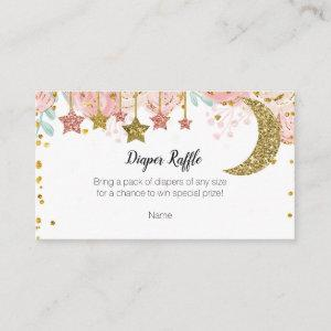 Gold twinkle twinkle Diaper Raffle Enclosure Card