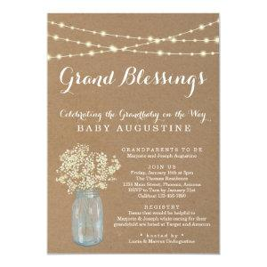 Grandparents, Grandmother, Grandbaby Baby Shower Invitation