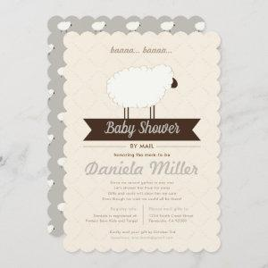 Gray Little Lamb Baby Shower by Mail