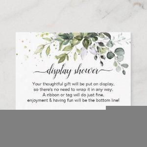 Greenery Display Shower Enclosure Card