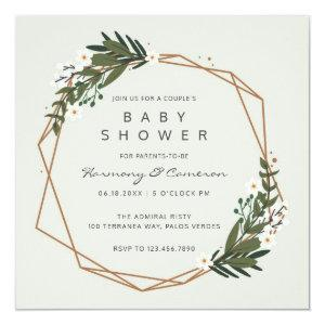 Greenery Gender Neutral Couple's Baby Shower Invitation