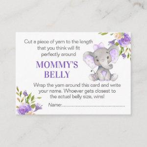 Guess Mommy's Belly Game Card Elephant Baby Shower