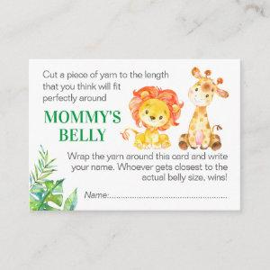 Guess Mommy's Belly Game Card Safari Baby Shower